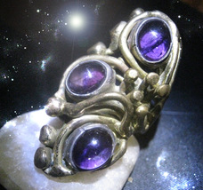 HAUNTED RING THE MANY MASTER CIRCLES OF POWER MANY GIFTS SECRET OOAK MAG... - $11,797.77