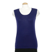 EILEEN FISHER Ultramarine Blue Fine Merino Jersey Muscle Tee Shell Top XS - $131.64 CAD