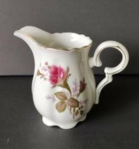 Vintage Moss Rose Porcelain Creamer - $9.99