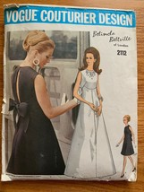 FRENCH 1969 VOGUE COUTURIER #2112-DESIGNER BELINDA BELLVILLE PATTERN Sz 12 - $74.24