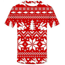 Popular Vogue 3D Print Funny Christmas Santa Women Men T-Shirt Short Sle... - $32.40