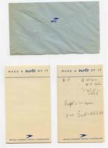 B O A C British Overseas Airways Corporation 1940's Notepad & Envelope BOAC - $17.82