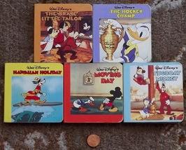 5 mini Walt Disney books Hawaiian Holiday, Tugboat Mickey, The Hockey Champ - $8.99