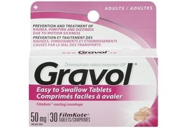 Gravol Easy to Swallow Tablets 50 mg 30 tablets - $14.25