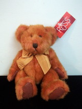 Russ Berrie Bears From the Past 'Tinker' 4677 Orange Plush Bear w Tag - $10.00