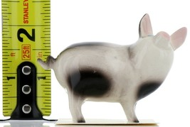 Hagen Renaker Miniature Pig Black and White Papa Ceramic Figurine image 2
