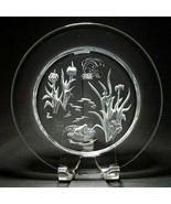 1 (One) DAUM FRANCE NYMPHEA Frog & Iris Crystal Engraved Intaglio Plate ... - $44.54