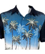 Croft & Barrow Palm Trees Huts Beach Large Hawaiian Aloha Shirt - $24.69