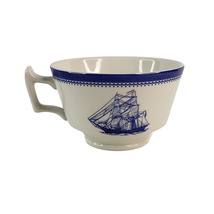 Spode Porcelain Tea Cup Blue Clipper Series Barque Free Trader Brig Elin... - $10.99