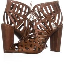 Jessica Simpson Emagine Lace Up Sandals 009, Burnt Umber, 8.5 US / 38.5 EU - $36.47