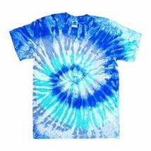 Gildan Men's Tie Dye Basic Crew Neck T-Shirt, Blue, Medium - $8.90