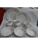 24 pc JOHNSON BROTHERS BROS SUMMER CHINTZ  LOT DINNER PLATE BOWL MUG SUG... - $123.75