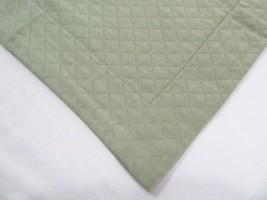 Restoration Hardware Diamond Matelasse Thyme Green Boudoir Sham  - $37.00