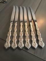 6 Original Steak Knives Oneida Community Stainless Flatware Fantasy Pattern Rare - $97.02