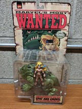 Marvel's Most Wanted Spat & Gravel Action Figures NIB Toy Biz - $12.82