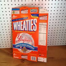 UNGLUED AND UNUSED WHEATIES BOX NEW YORK YANKEES CHAMPIONS              ... - $12.59