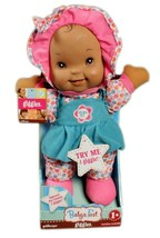Baby's First Giggles Soft Doll Dark Skinned by Goldberger 12 Inches Tall - $23.36