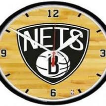 "Brooklyn Nets Logo on 12"" Round Wall Clock by WinCraft - $36.99"