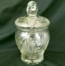 Antique ABP Brilliant Period Cut Glass Humidor Tobacco Jar Non Tradition... - $132.95