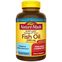 Nature Made Burp-Less Omega-3 from Fish Oil 1200 mg Softgels, 125 CT..+ - $29.99