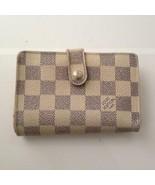 Louis Vuitton Damier Azur Compact Kisslock Bifold Wallet 5.5in x 4in(M12... - $237.45