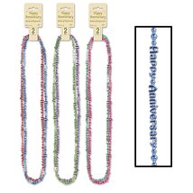 "24 Multi-Colored ""Happy Anniversary Wedding Beaded Necklace Party Favors... - €42,38 EUR"