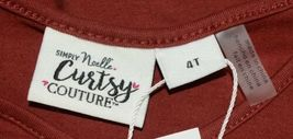 Simply noelle curtsy couture Girls Cutout Long Sleeve Shirt Paprika Size 4T image 5