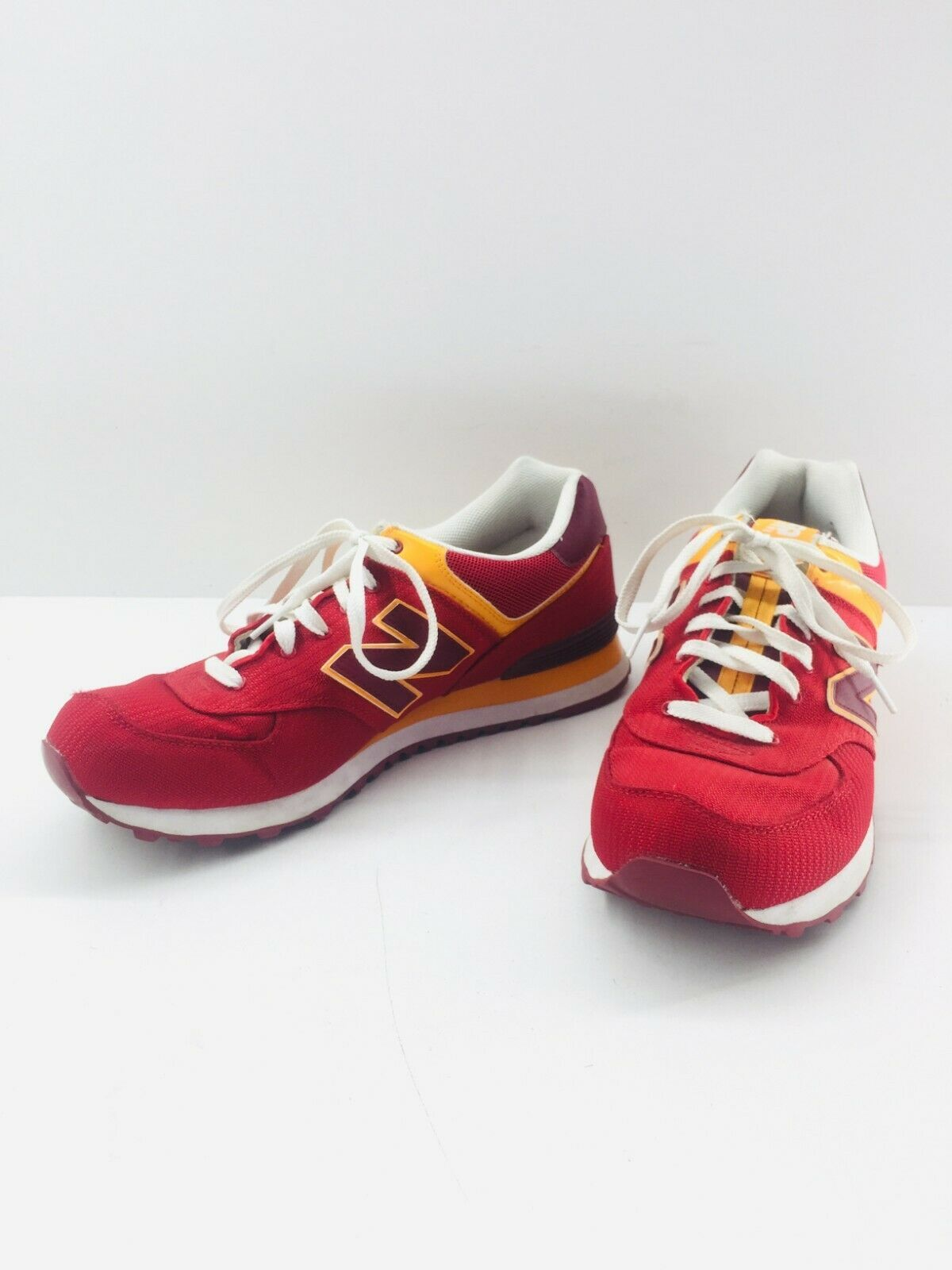 New Balance Athletic Sneaker Shoes Men's Sz 11.5 Red Orange ML574PPR  574 EUC image 4