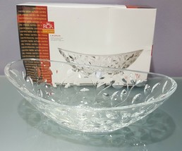 Laurus Cut Clear Crystal Oval Serving Bowl Centerpiece RCR Home & Table ... - $7.91