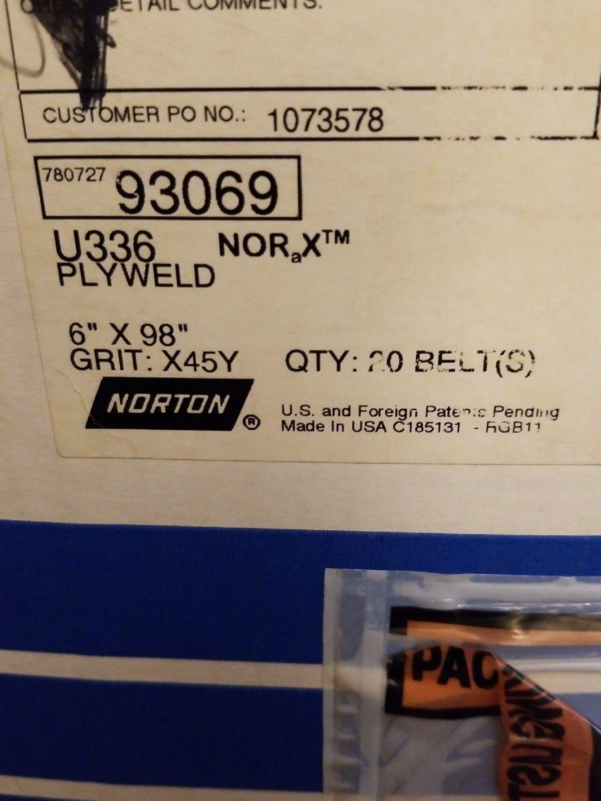 """norton Premium Abrasive Sanding Belts 2-1//2/"""" x 48/"""" A//O 80 grit USA 21520"""