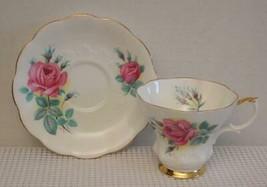 "Royal Albert Pink SWEETHEART ROSES China Tea Cup & Saucer ""ELIZABETH"" En... - $14.54"