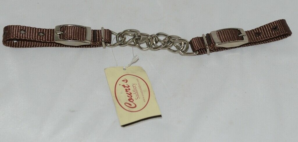 Courts Saddlery 1315901 Curb Chain Nylon Flat Chain Brown