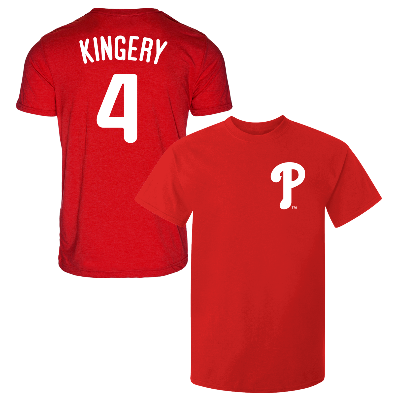 Primary image for Scott Kingery T-Shirt Philadelphia Phillies MLB Soft Jersey #4 (S-3XL)