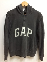 Vintage GAP Big Embroidery Logo 1/4 Button Up Sweatshirt Hoodies - $45.00