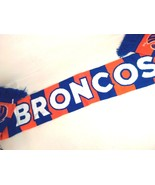 "BRONCOS FOOTBALL SCARF BOISE STATE ORANGE BLUE KNIT 60"" FREE SHIPPING! - $17.95"