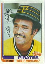 1982 Topps Willie Montanez Pittsburgh Pirates #458 Baseball Card - $1.97