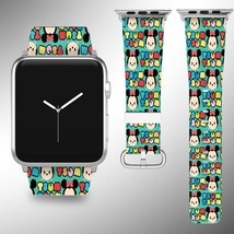 Disney Tsum Tsum Apple Watch Band 38 40 42 44 mm Fabric Leather Strap 01 - $24.97