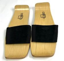 Puma Nuala Black Merca Wood Japanese Slide Sandals Women Sz UK 5 US 7 JPN 24 - $39.59