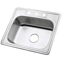 Carefree Stainless Steel Single Bowl Self-rimming Kitchen Sink,Satin Nickel - $77.17