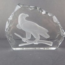 Eagle Carved In Glass - $17.63