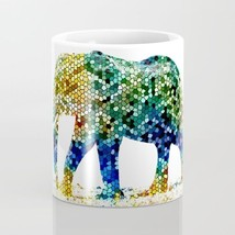 Coffee Mug Cup 11oz or 15oz Made in USA Design 36 Mosaic Elephant L.Dumas - $19.99+