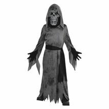 Ghastly Ghoul Mask Robe Belt Costume Boys Child Medium 8-10 - $28.70