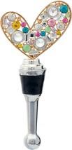 Simply Love Heart Rhinestones Metal Art Wine Bottle Stopper Topper Hand ... - $29.76
