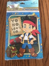 Jake and the Neverland Pirates Pack of 8 Invitations Ships N 24h - $4.83