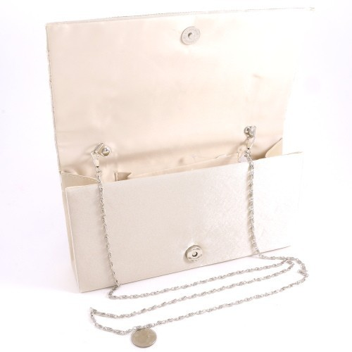 WYQ071-CHP Champagne with Clear Stones Fashion Evening Clutch Bag