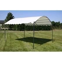 Fabric Gazebo Canopy Sun Protection Cream White Shelter For Family Gathe... - $341.50
