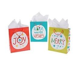 .12 Christmas Nordic Noel Gift Bags - medium - $9.17