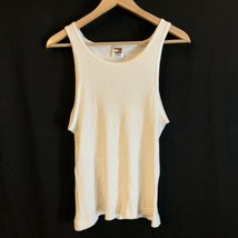 Tommy Hilfiger Tank Top White Beater Sz M Mens Used  - $14.01