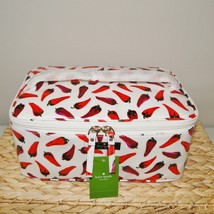 Kate Spade Large Colin Daycation Hot Peppers Cosmetic 2pc Case image 4
