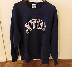 Putnam Sweatshirt Navy Color w Bold Letters Size XL Made in USA by Lee VG+ image 2